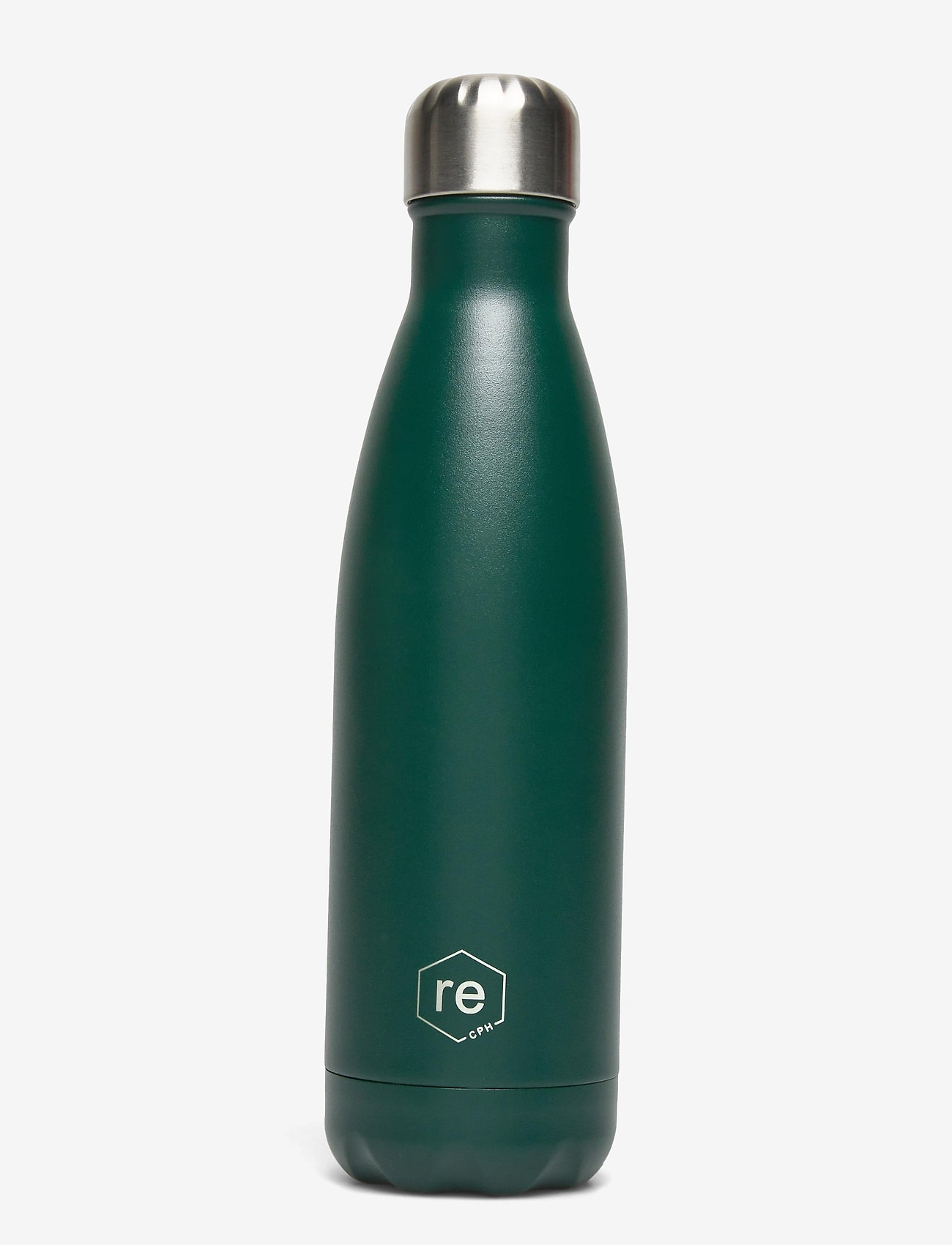 Markberg - Rebottle 500 ml, Powder Coat - dark green w/silver lid - 0