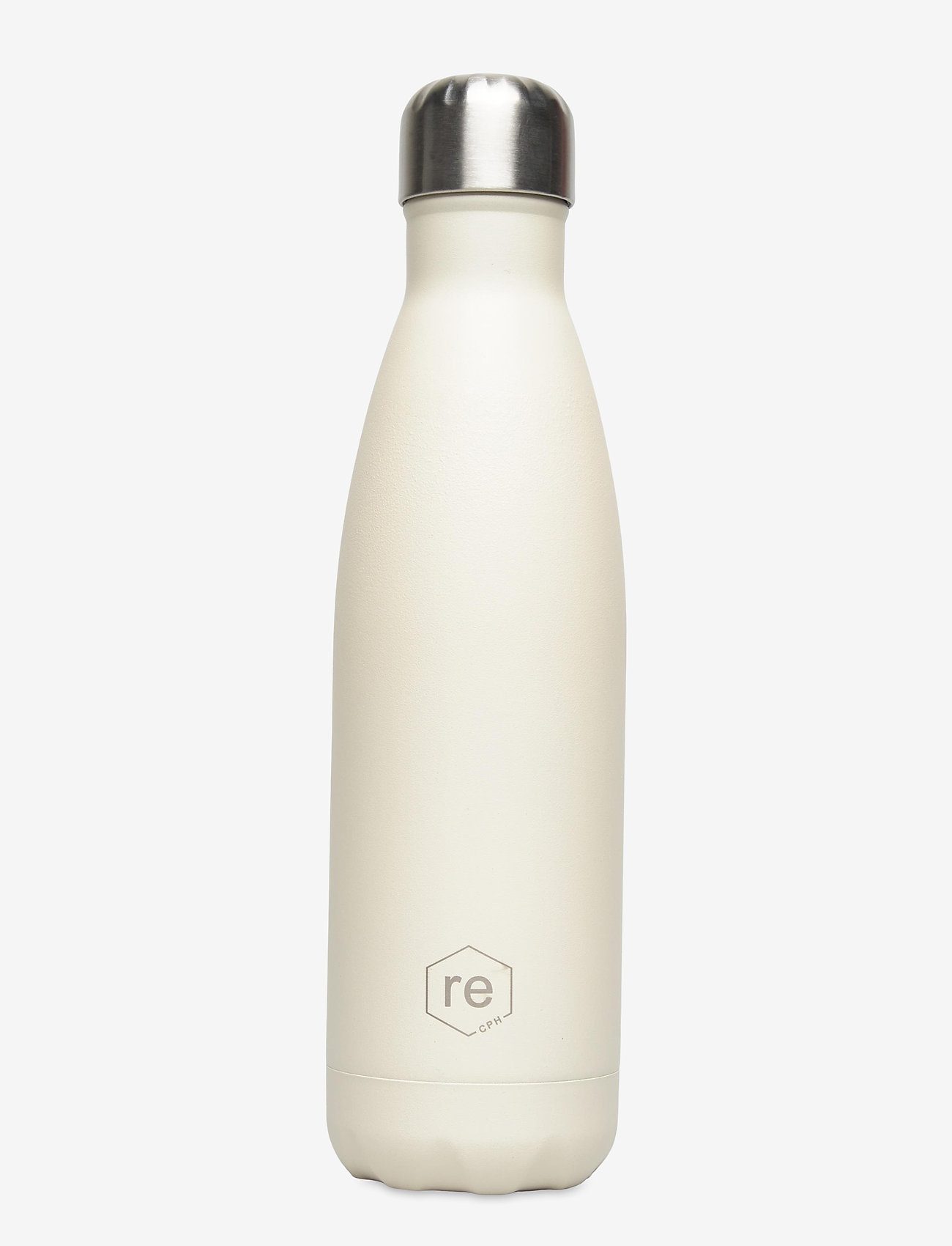 Markberg - Rebottle 500 ml, Powder Coat - vannflasker og termoser - sand w/silver lid - 0