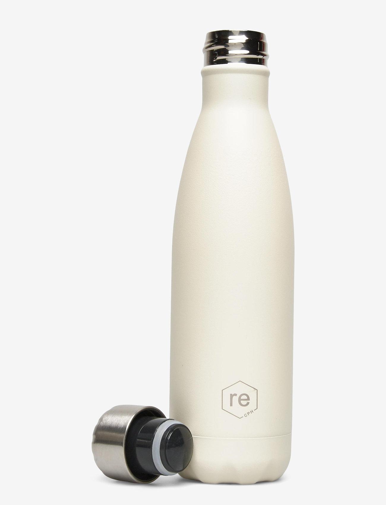 Markberg - Rebottle 500 ml, Powder Coat - vannflasker og termoser - sand w/silver lid - 1