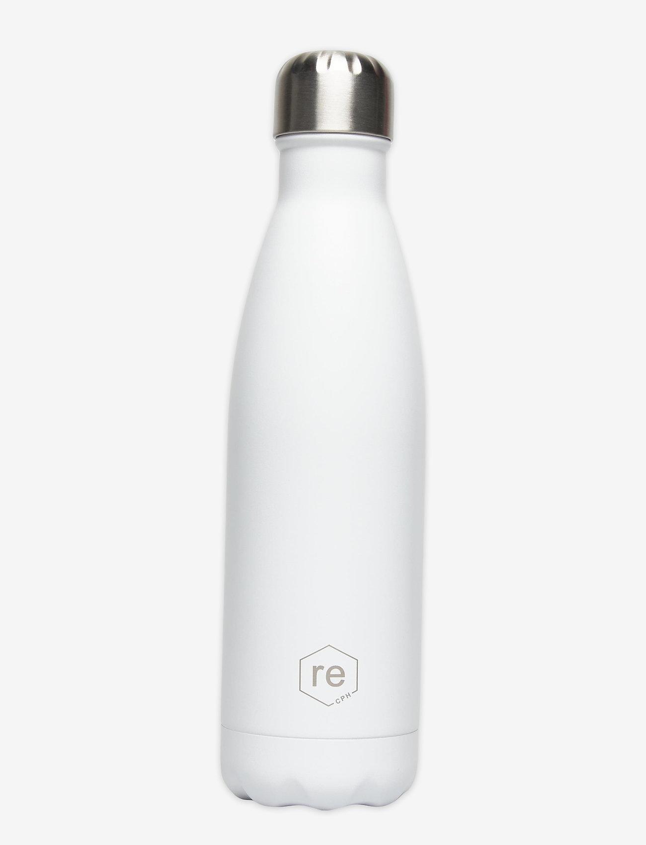 Markberg - Rebottle 500 ml, Powder Coat - vannflasker og termoser - white w/silver lid - 0
