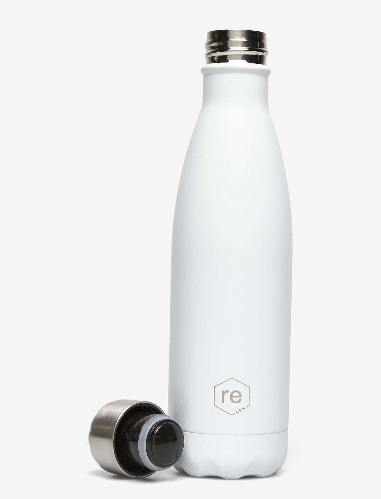 Markberg - Rebottle 500 ml, Powder Coat - vannflasker og termoser - white w/silver lid - 1