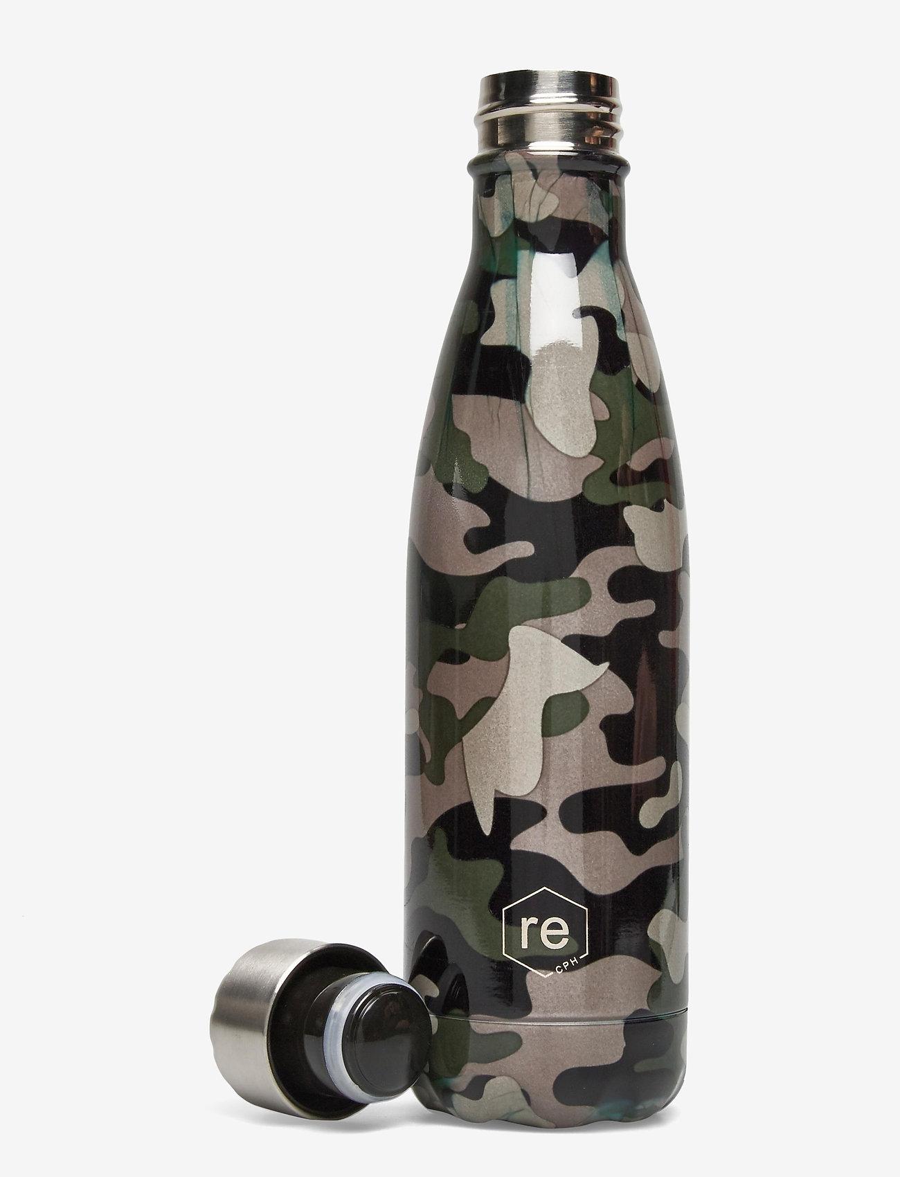 Markberg - Rebottle 500 ml, Printed - vannflasker og termoser - camouflage green w/silver - 1