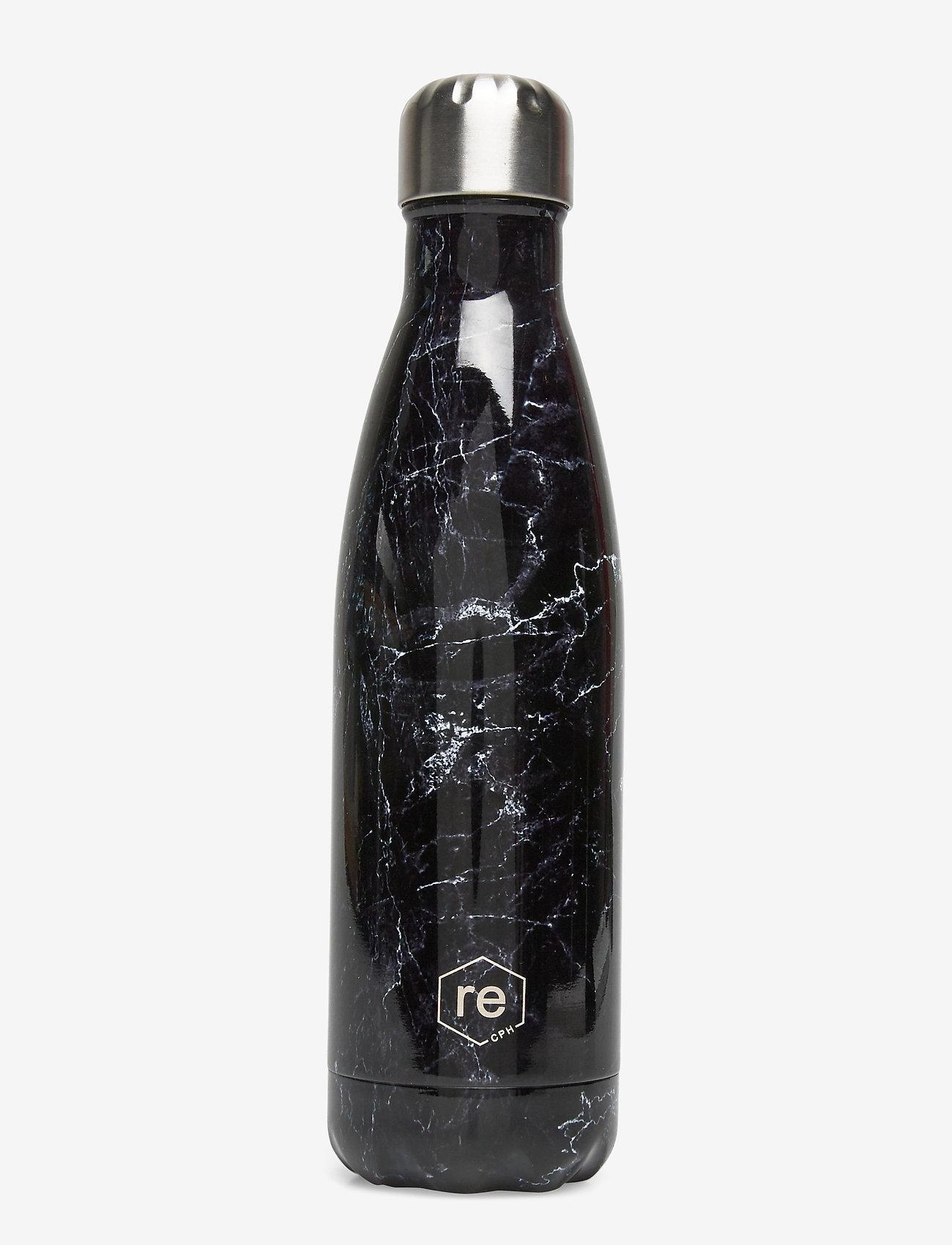 Markberg - Rebottle 500 ml, Printed - marble/black w/silver lid - 0