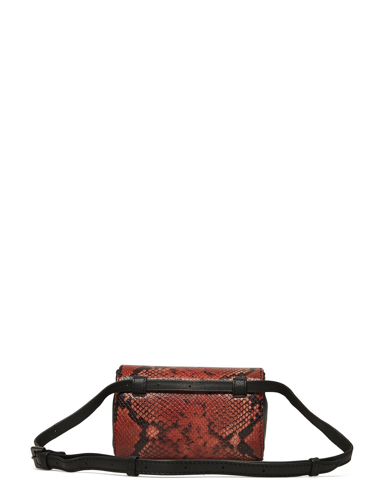 Magnolia Bum Bag, Snake Print Bum Bag Taske Orange MARKBERG