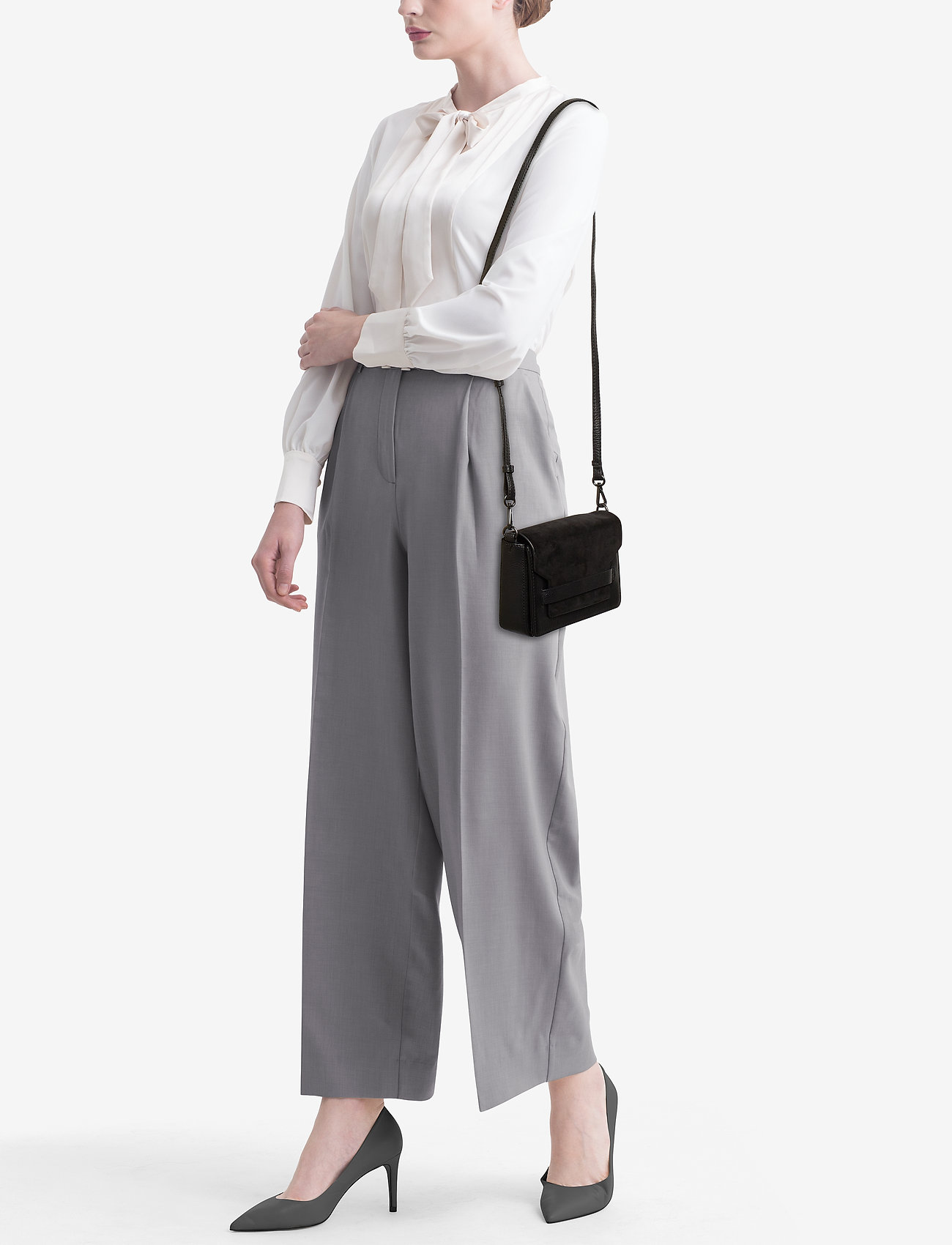 Markberg Vanya Crossbody Bag, Suede - BLACK