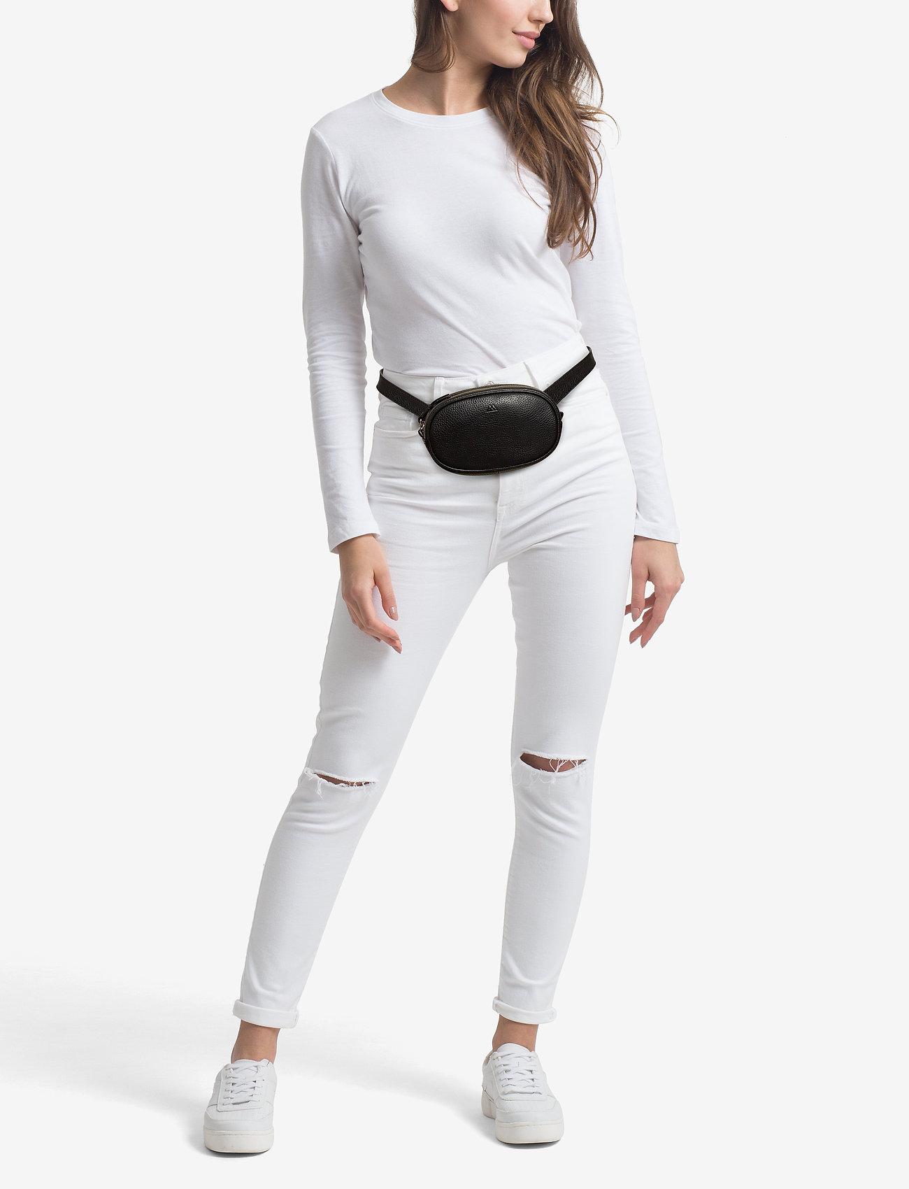 Markberg Eloise Bum Bag, Grain - BLACK