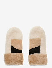 Markberg - Catelyn Mitten - gants - black w/offw.+caramel+bl. - 0