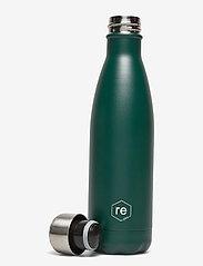 Markberg - Rebottle 500 ml, Powder Coat - dark green w/silver lid - 1