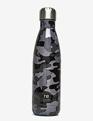 Rebottle 500 ml, Printed - CAMOUFLAGE BLACK W/SILVER