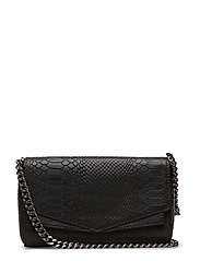 Cora Crossbody Bag, Snake - BLACK