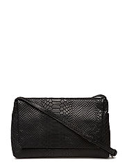 Pippa Crossbody Bag, Snake - BLACK