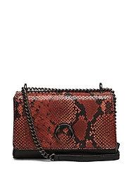 Vega Crossbody Bag,Snake Print - BURNT ORANGE