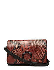 Magnolia Bum Bag, Snake Print - BURNT ORANGE