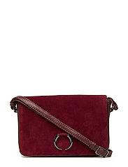 Amala Crossbody Bag, Suede - BURGUNDY