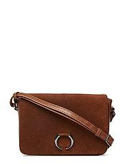 Amala Crossbody Bag, Suede - CHESTNUT