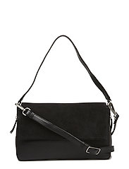 Taya Bag, Suede - BLACK