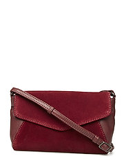 Fergie Crossbody Bag, Suede - BURGUNDY