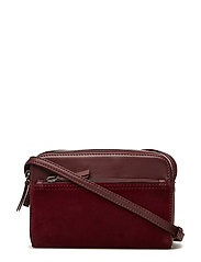 Flora Crossbody Bag, Suede - BURGUNDY