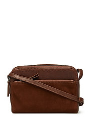 Flora Crossbody Bag, Suede - CHESTNUT