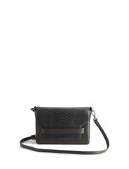 Vanya Crossbody Bag, Snake - BLACK