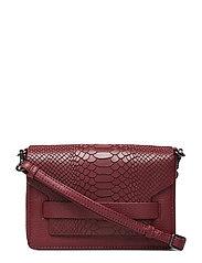 Vanya Crossbody Bag, Snake - BURGUNDY