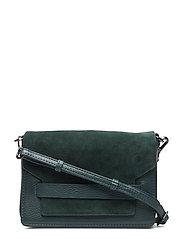 Vanya Crossbody Bag, Suede - DARK GREEN