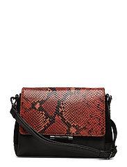 Kendra Crossbody Bag, Snake Pr - BURNT ORANGE