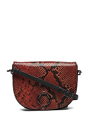 Dayana Crossbody Bag, Snake Pr - BURNT ORANGE