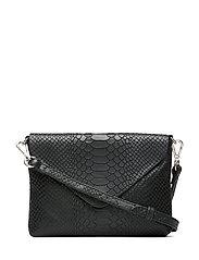 Jenny Crossbody Bag, Snake - BLACK