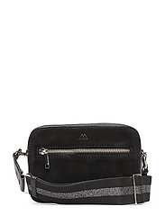 Elea Crossbody Bag, Suede Mix - BL. W/BL.+GUNMETAL MET.