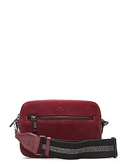 Elea Crossbody Bag, Suede Mix - BURG. W/BL.+GUNMETAL MET.