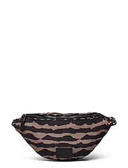 Elinor Bum Bag, Recycled - BLURRY LINES W/BLACK