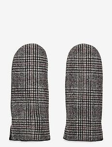 Fallon Mitten, Checks - handsker & vanter - b. grey