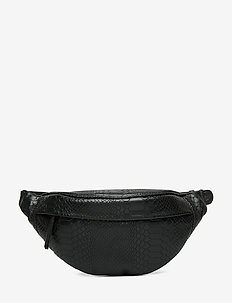 Tova Bum Bag, Snake - BLACK
