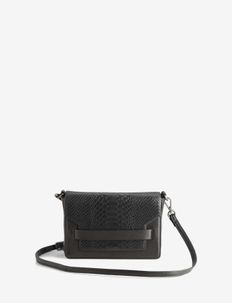 Vanya Crossbody Bag, Snake - BLACK