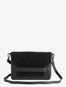 Vanya Crossbody Bag, Suede - BLACK