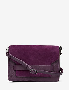 Vanya Crossbody Bag, Suede - DARK PURPLE