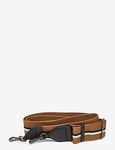 Finley Guitar Strap, Striped - taskeremme - black w/caramel+bl.+mint