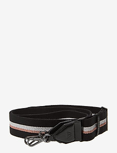 Finley Guitar Strap, Striped - BL. W/BL.+SILVER+ROSE GL.