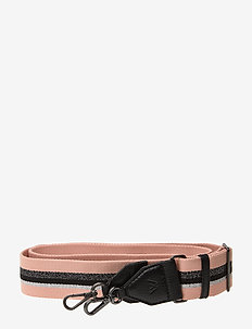 Finley Guitar Strap, Striped - BL. W/PEACH+GUNM+BL+SIL