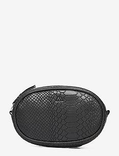 Eloise Bum Bag, Snake - bæltetasker - black