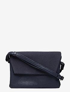 Rayna Crossbody Bag, Suede Mix - crossbody bags - navy