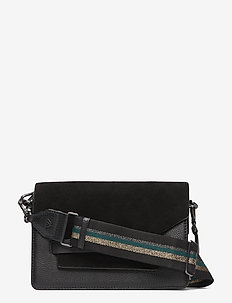 Arabella Crossbody Bag, Sue. M - BL. W/BL.+GOLD+DG+SILVER