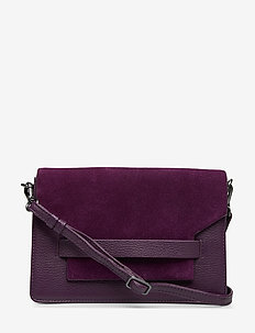 Arabella Crossbody Bag, Sue. M - D. PURP W/BL+GL+SL+PURP