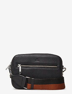 Elea Crossbody Bag, Grain - BLACK W/CHESTNUT+BLACK