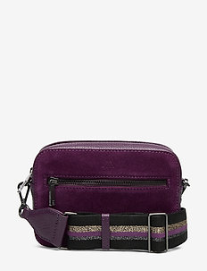 Elea Crossbody Bag, Suede Mix - D. PURP W/BL+GL+SL+PURP