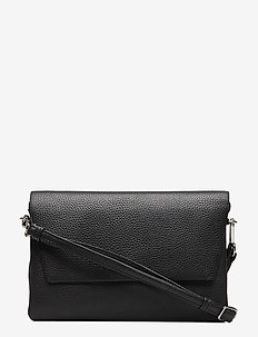 Amy Crossbody Bag, Grain - shoulder bags - black
