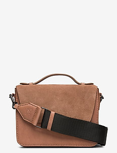 Kamaya Crossbody Bag, Ant. Mix - shoulder bags - caramel w/black