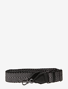 Maisey Guitar Strap - BLACK W/BLACK+SILVER