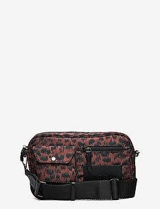 Darla Crossbody Bag, Recycled - tasker - orange ani. army w/bl.